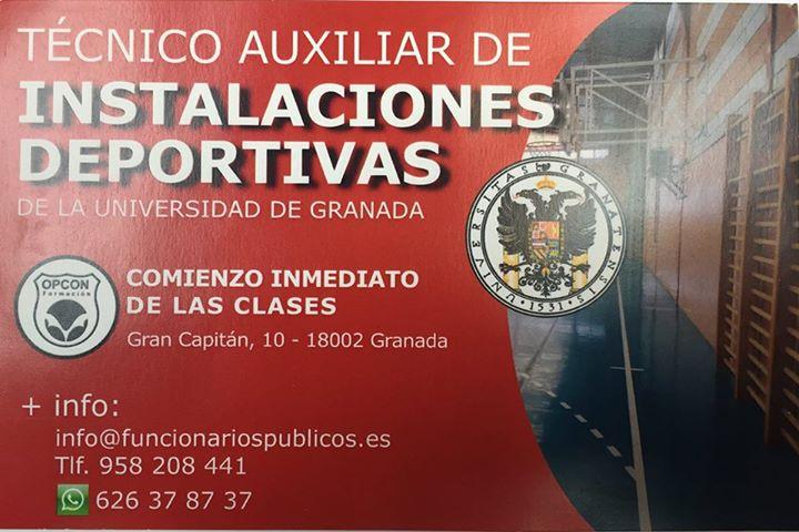 Técnico Auxiliar de Instalaciones Deportivas de la Universidad de Granada